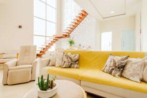 Lichtkoepel in woonkamer